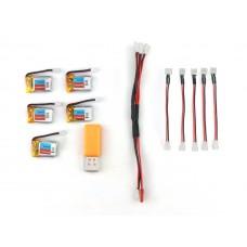 Зарядное устройство USB + 5 аккумуляторов для Eachine E010