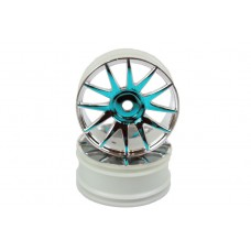Blue Chrome Wheel Rims 2P