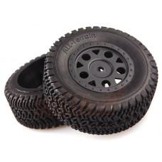 Колеса LC Racing шорт-корс 1/14 черные 2шт для EMB-SC (LC-6003)