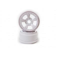 (8E132W) White Rims For Short Course Truck 2P