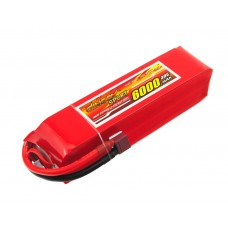 Аккумулятор Dinogy Li-Pol 6000mAh 14.8V 4S 30C 40x41x162мм T-Plug