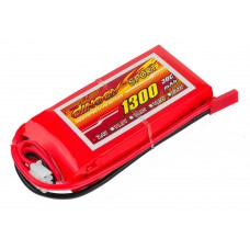 Аккумулятор Dinogy Li-Pol 1300mAh 7.4V 2S 30C 17x35x73мм JST