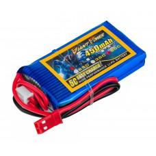 Аккумулятор Giant Power Li-Pol 450mAh 7.4V 2S 35C 10x30x53мм JST