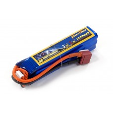Аккумулятор для страйкбола Giant Power Li-Pol 11.1V 3S 1300mAh 25C 24х20х96мм T-Plug