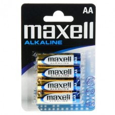 Батарейка AA Maxell Alkaline LR6 в блистере 1шт (4шт в уп.)