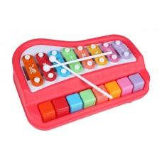 Ксилофон пианино Baoli 8 тонов (красный)