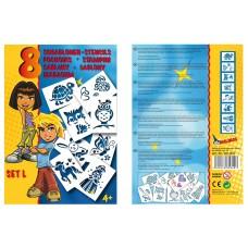 Трафареты MALINOS для девочек 8 шт (набор L)