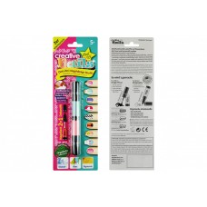 Детский лак-карандаш для ногтей Creative Nails на водной основе (2 цвета бирюзовый + розовый)