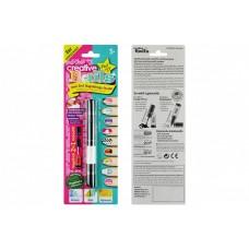 Детский лак-карандаш для ногтей Creative Nails на водной основе (2 цвета чёрний + белый)