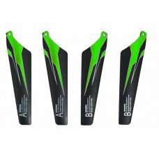 Лопасти комплект 4шт зеленые (запчасть для вертолетов WL Toys S929, V319, V757)