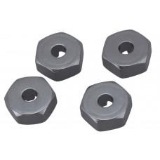 Хексы 12мм алюминиевые 4 шт (Запчасть для машинок на радиоуправлении WL Toys 144001)
